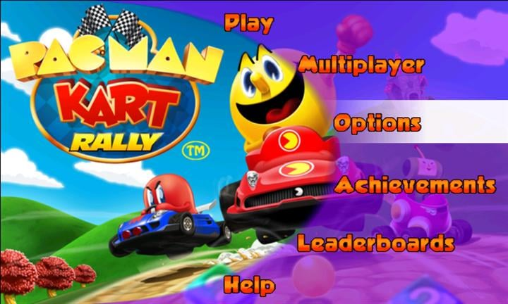 Pac-Man Kart Rally Title
