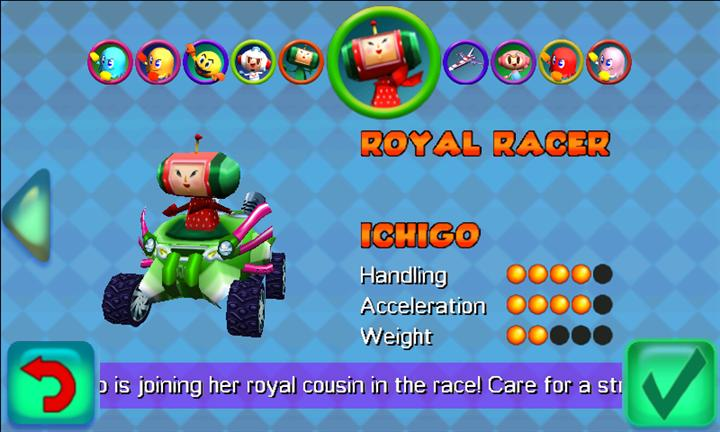 Pac-Man Kart Rally Menu Select Ichigo