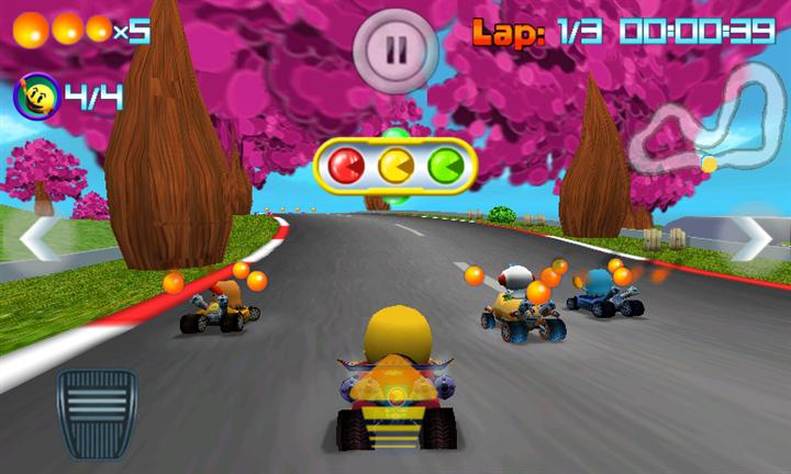 Pac-Man Kart Rally Race Screen 1