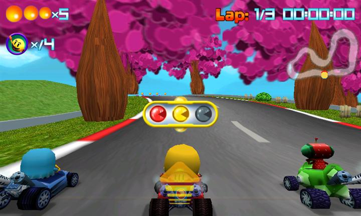 Pac-Man Kart Rally Race Screen 3