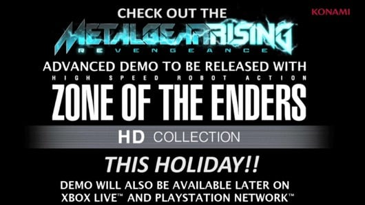 Metal Gear Solid Rising: Revengeance demo available with Zone of the Enders HD Collection purchase