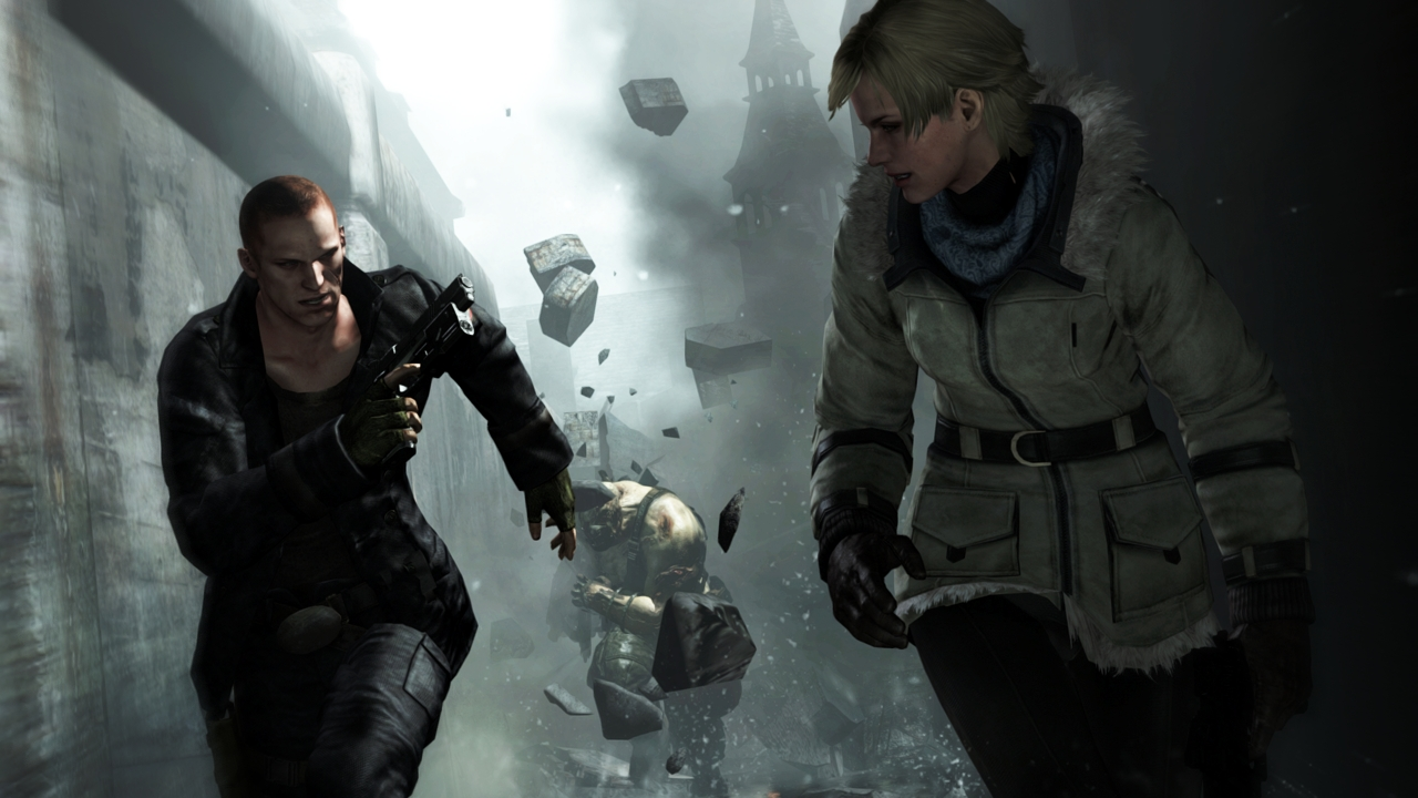 5/6/12 Jake Muller and Sherry Birkin facing an Ustanak 2