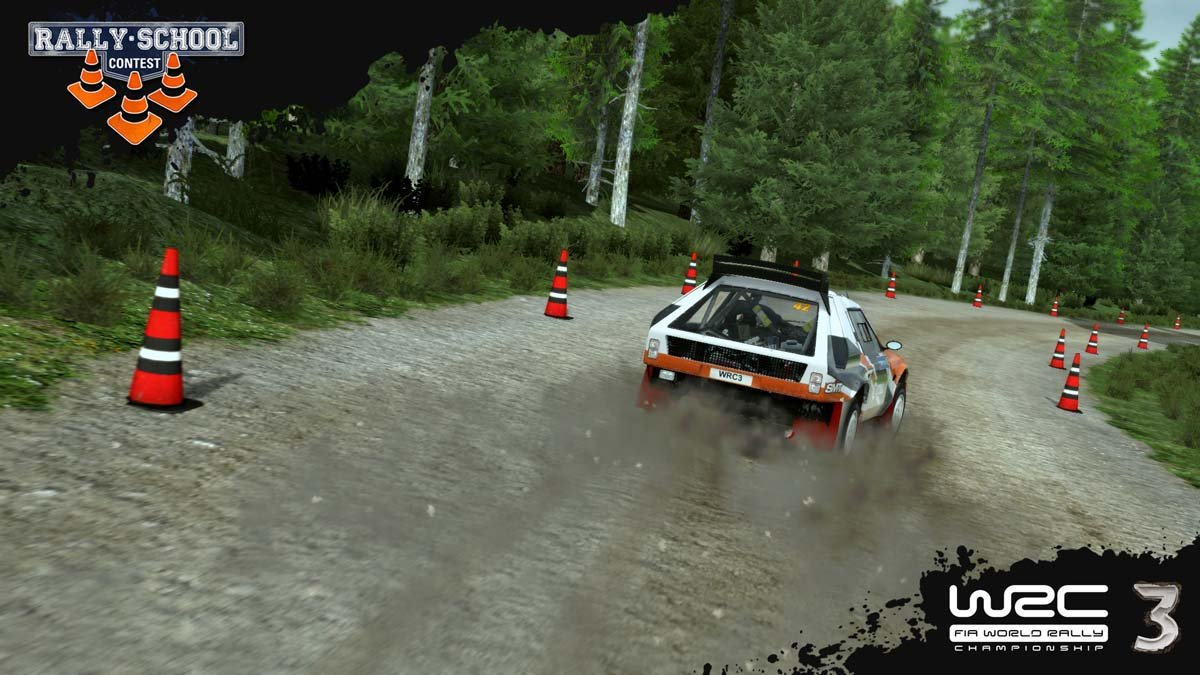 Rally School Contest Screen 1