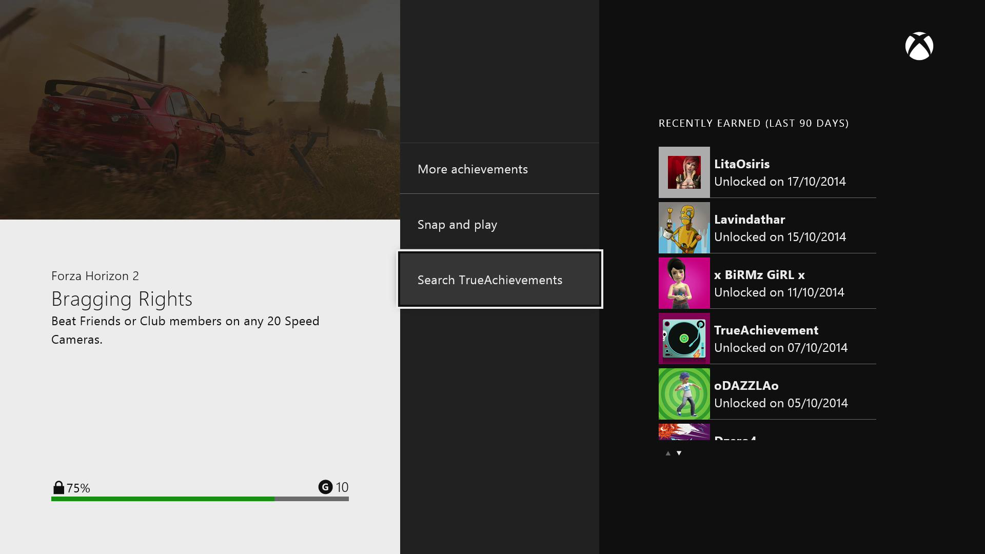 Integration into the official Xbox One Achievements application