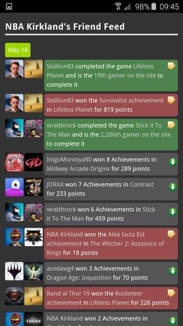 Gamer page - dark theme
