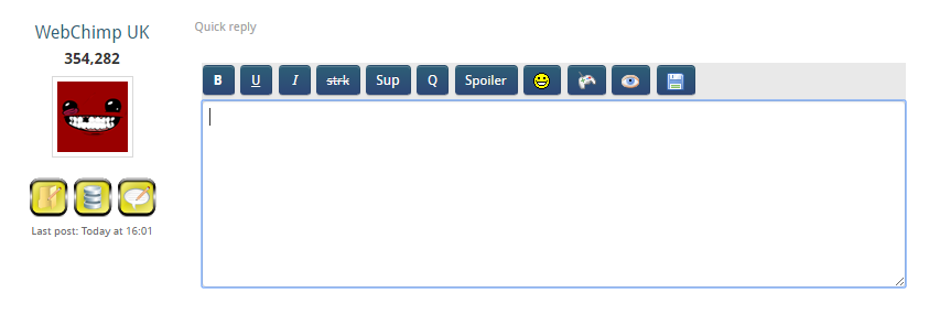 Quick reply field