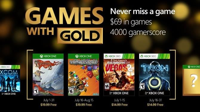 July's Games with Gold Revealed
