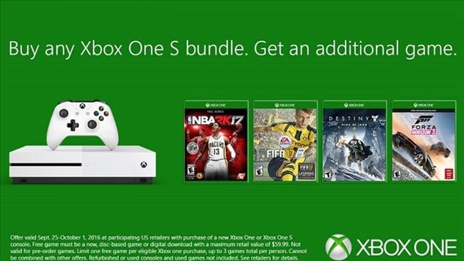 This Week Only: Buy an Xbox One S, Get a Free Game