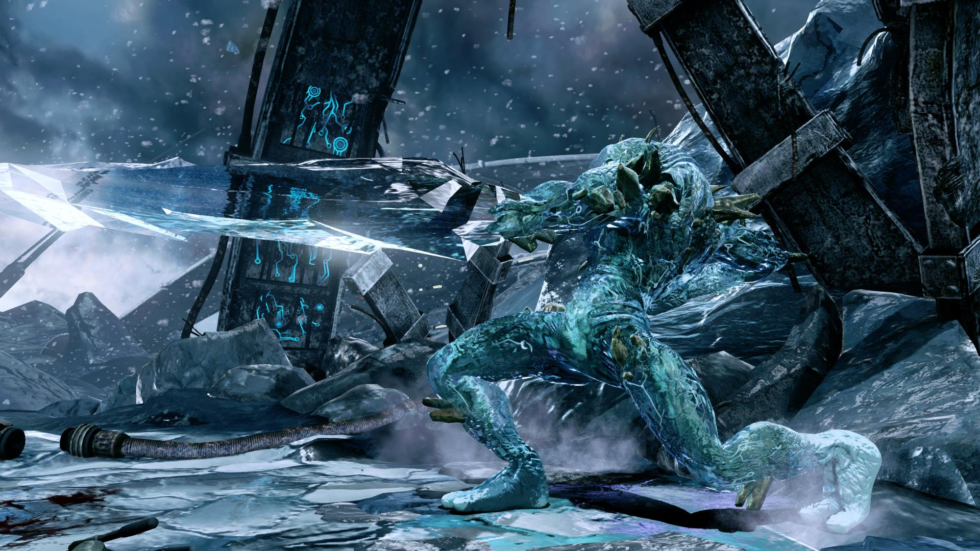 Sparring Glacius in Killer Instinct