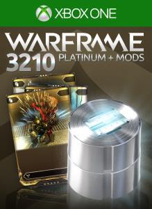 Warframe: 3210 Platinum + Triple Rare Mods