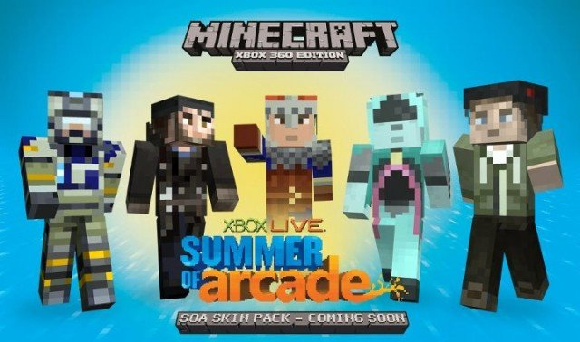 The Free Summer of Arcade Minecraft Skins Are Here