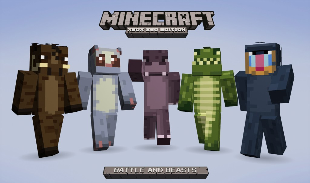 Battle  amp  Beasts Skin Pack quot  costs 160 MSP and can be downloaded from    Xbox 360 Minecraft Skins