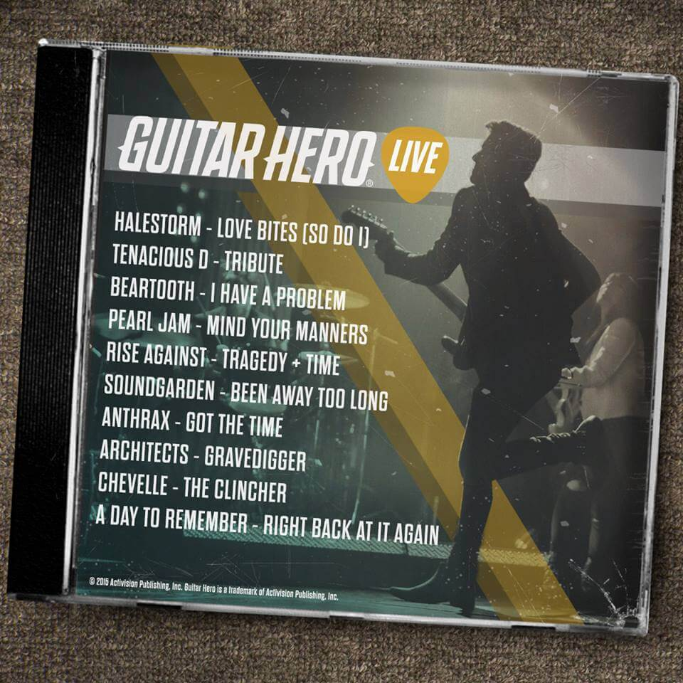 Guitar Hero Live PS4 tracks