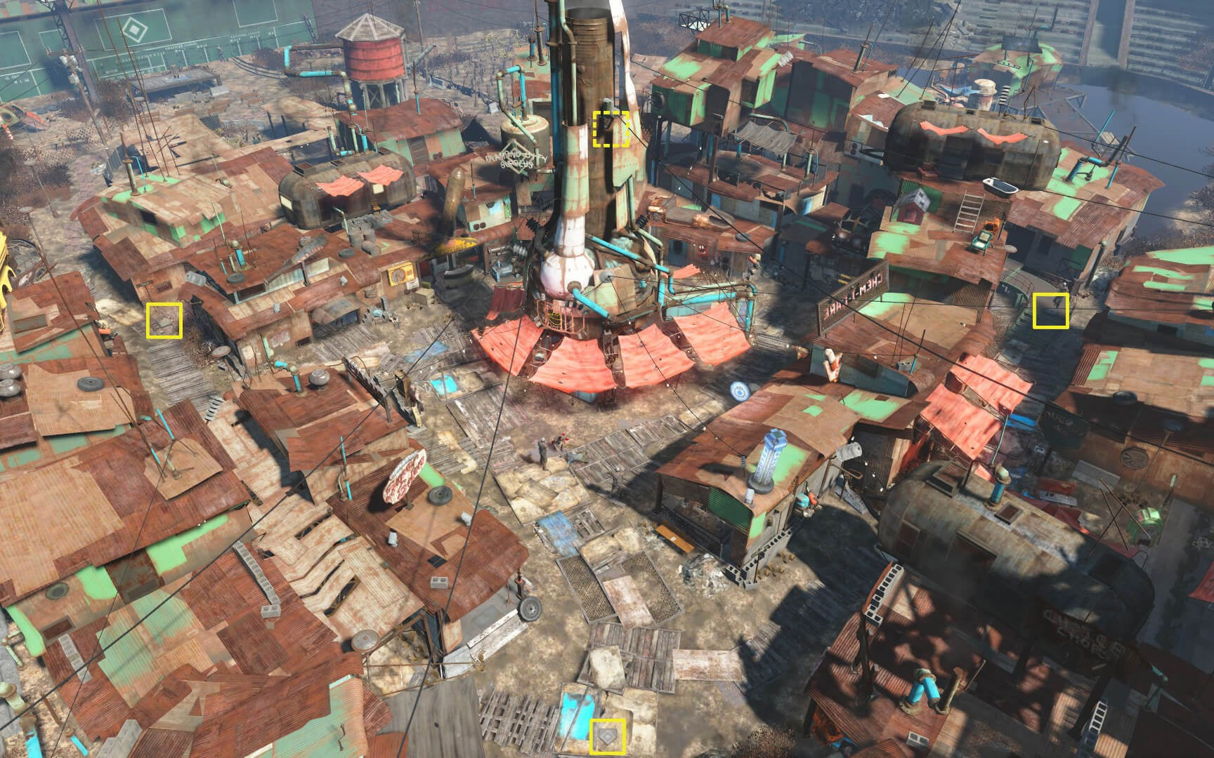 Start at the bottom, and head counter clockwise to complete the diamond. Credit to Fallout Wikia for the image.