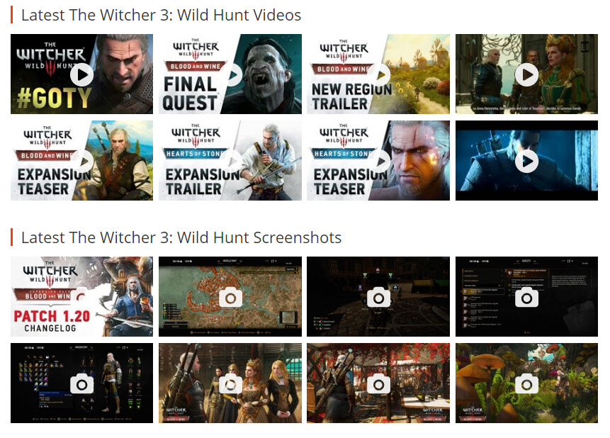 The Witcher 3 media files