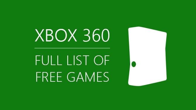 Full List of Free Xbox 360 Games