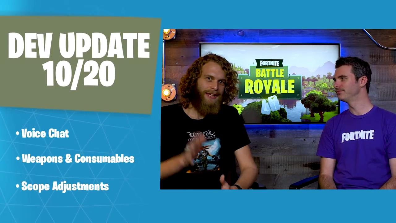 Fortnites latest dev update talks voice chat weapons consumables well theyre back and this time around theyre answering new questions and providing updates for the fortnite community ccuart Images