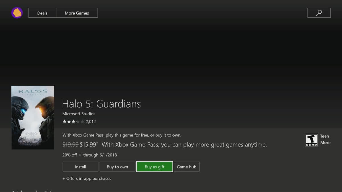 gift as xbox game buy
