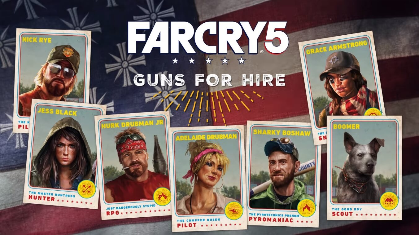 Image result for Far cry 5 guns for hire