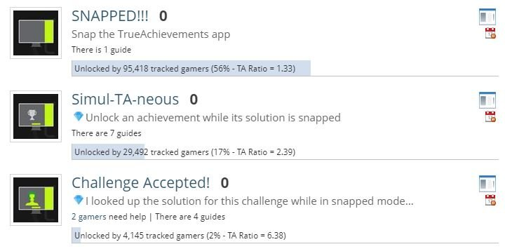 The three discontinued achievements in the TrueAchievements app