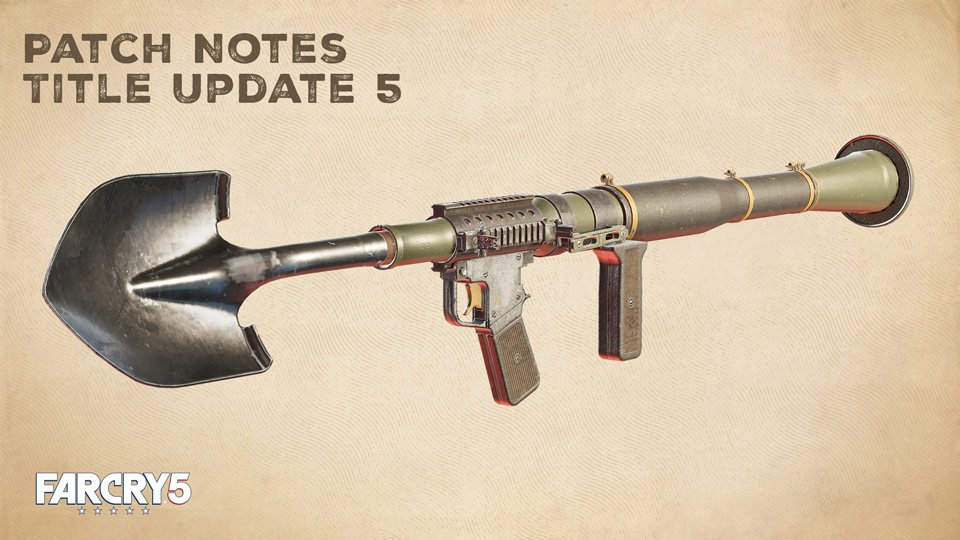 Far Cry 5 S Fifth Title Update Released With Shovel Launcher Live