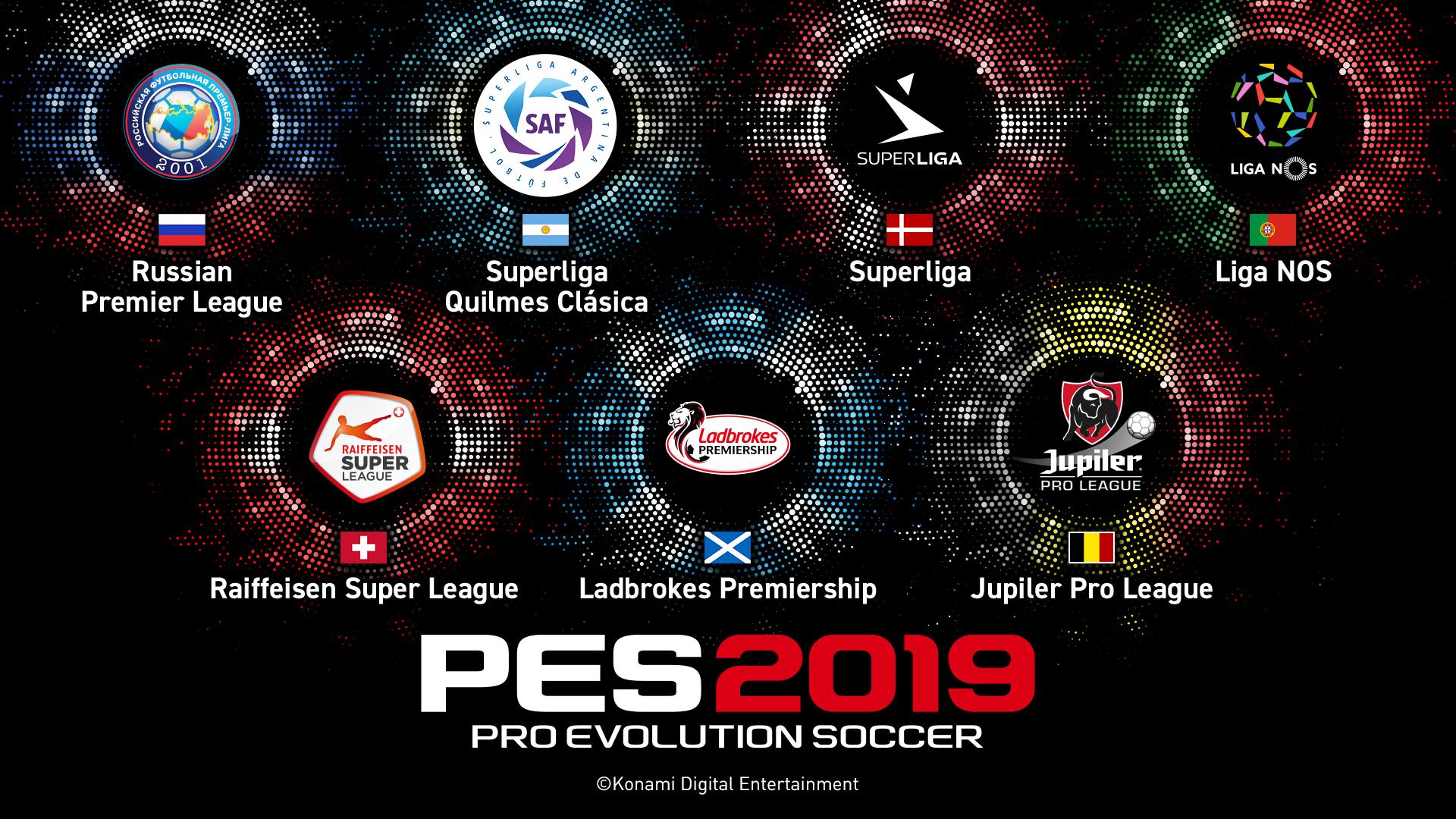 Konami Announce Seven New Licenses For PES 2019