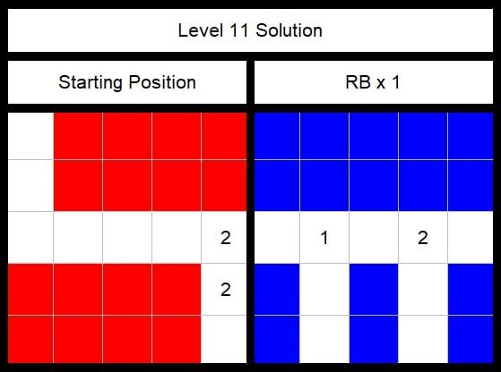 Level 11 Solution