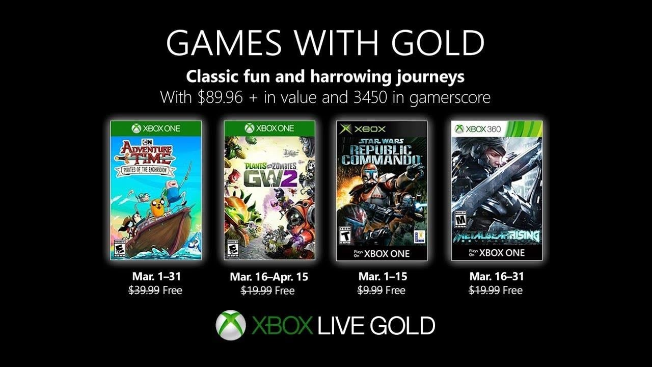 Games With Gold 2020.Adventure Time And Star Wars Now Free With Games With Gold