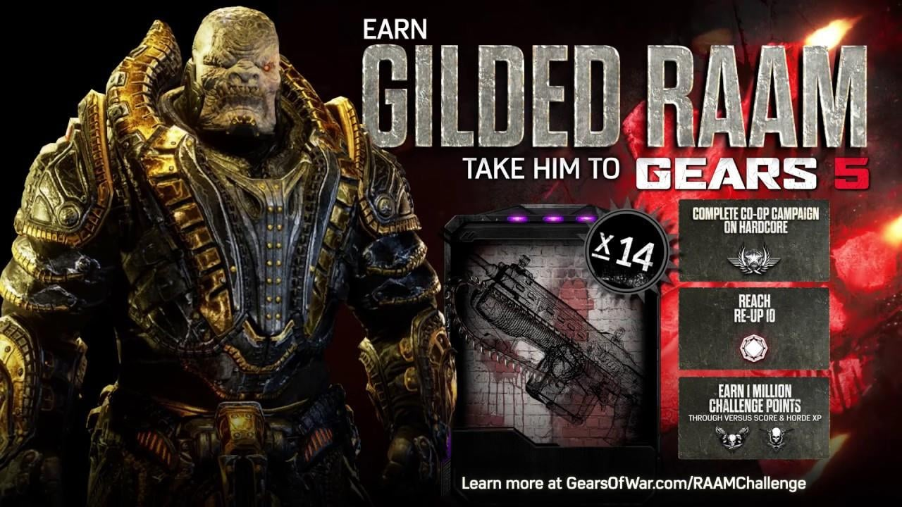 Gears of War 4's Gilded RAAM Challenge Gives Rewards for Gears 5