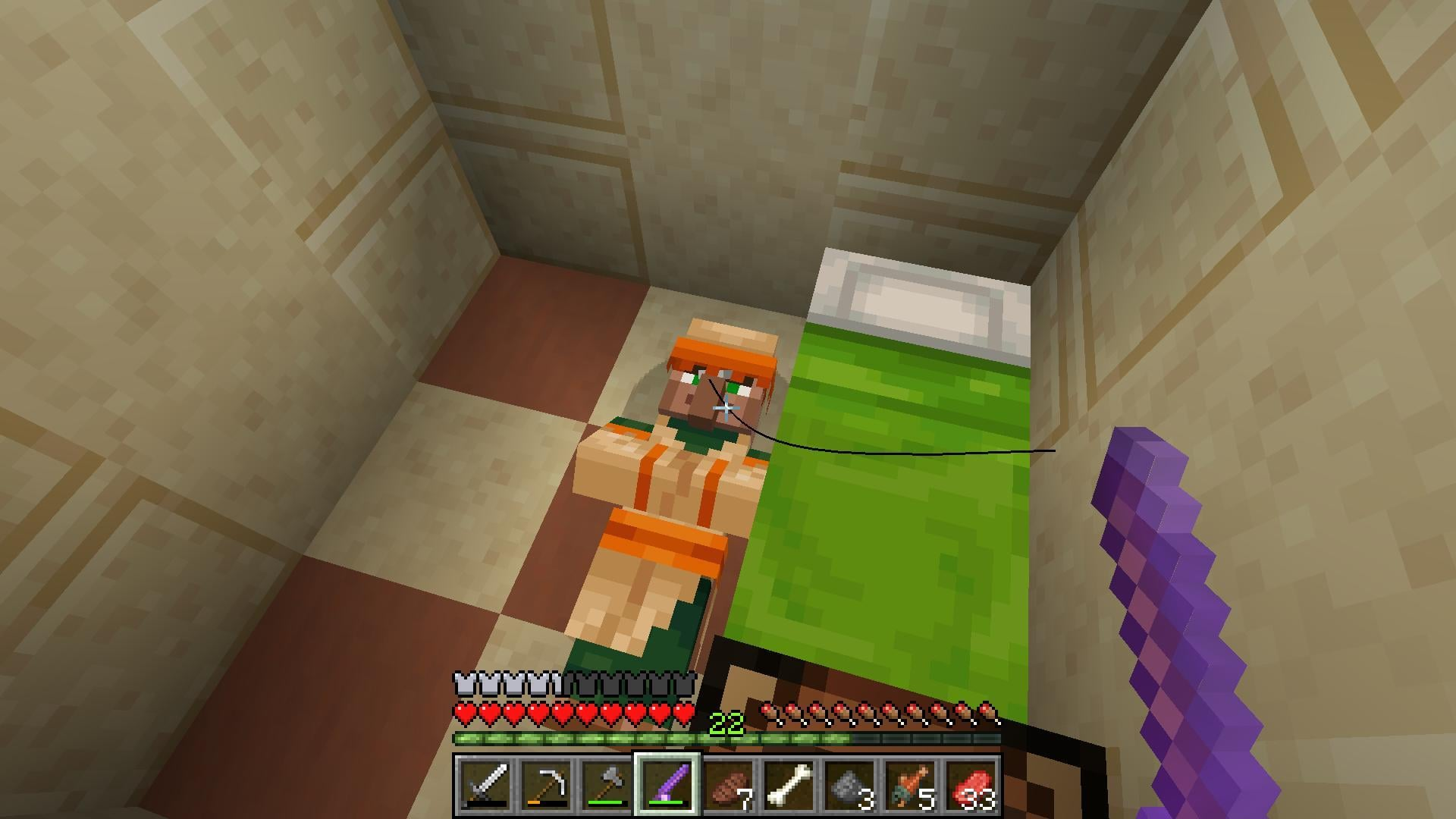 Minecraft Villagers are Working, Sleeping, and Breeding Inside