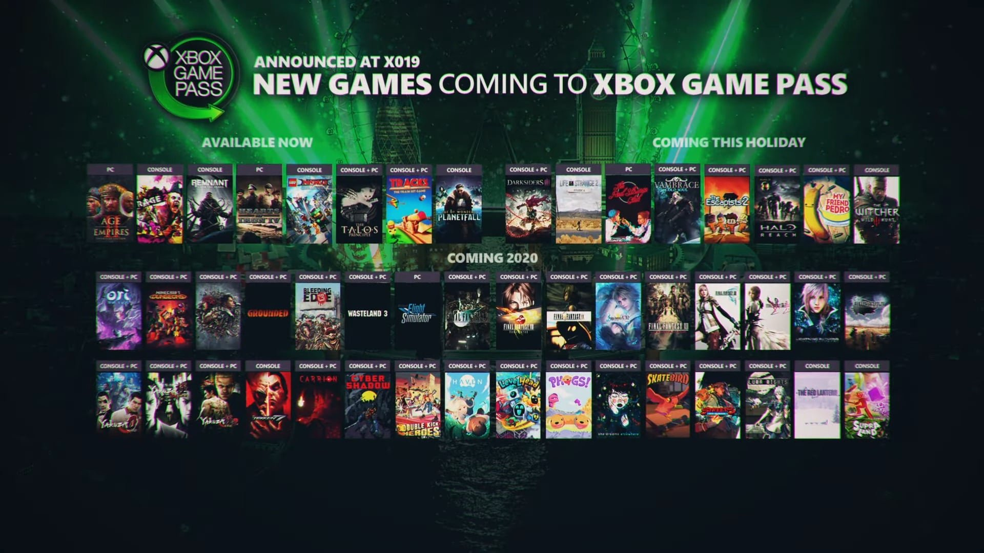 Witcher 3, Halo Reach, Yakuza, Final Fantasy Franchise and More Coming to Xbox Game Pass
