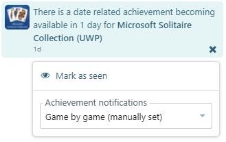 Achievement reminders