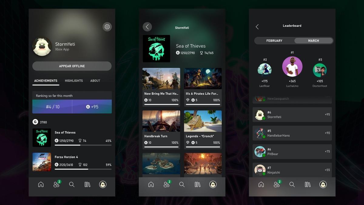 Xbox achievements mobile app