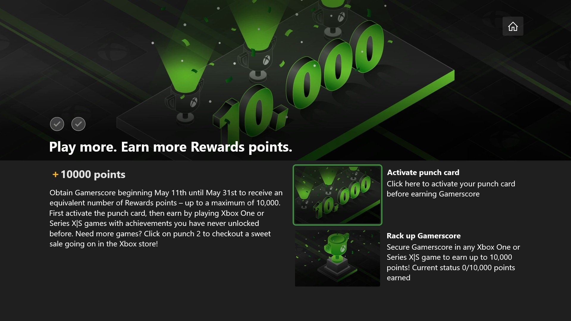 May Gamerscore Challenge 10,000 Microsoft Rewards Points for 10,000 Gamerscore