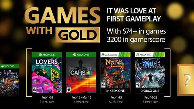 Projects CARS and Star Wars: The Force Unleashed Now Free With Game with Gold