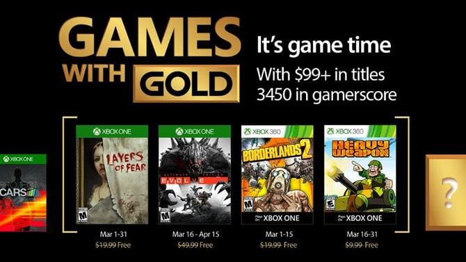 March Games With Gold Announced