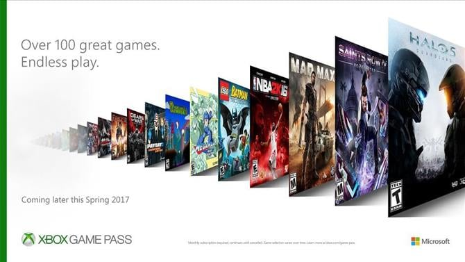 Xbox Game Pass Coming This Spring - Unlimited Access to Over 100 Games