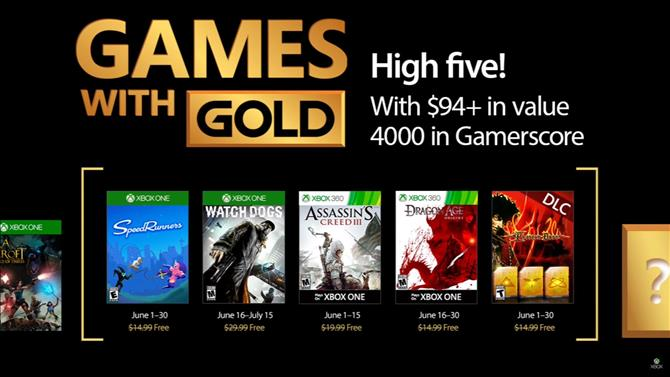 June's Games with Gold Titles Announced