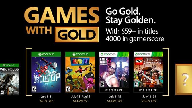 July's Games with Gold Titles Announced