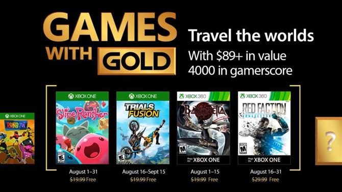 August's Games with Gold Titles Announced