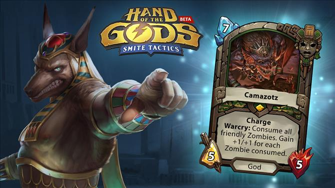 Giveaway: Hand of the Gods: SMITE Tactics - 2,000 Camazotz Legendary God Cards