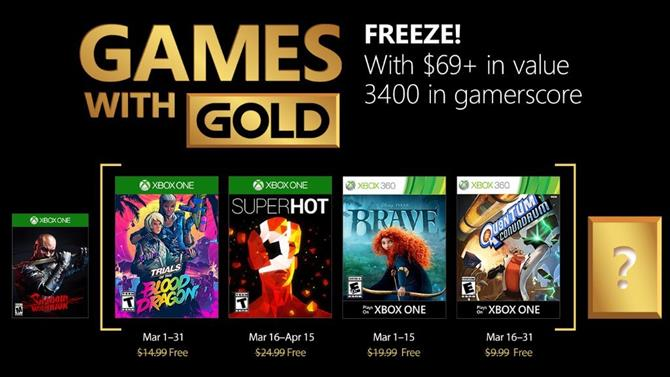 March 2018's Games with Gold Titles Announced