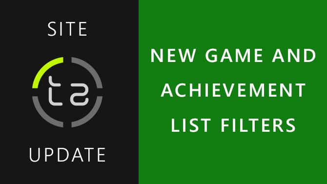 New Filters on all Game and Achievement Lists, Including Back Compatible Games