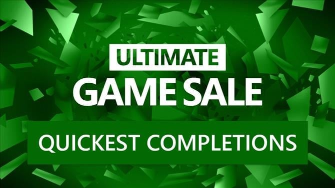 The 20 Quickest Xbox One and Xbox 360 Completions from the Ultimate Game Sale