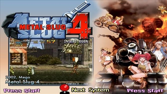 ACA NEOGEO METAL SLUG 4 Achievement List Revealed