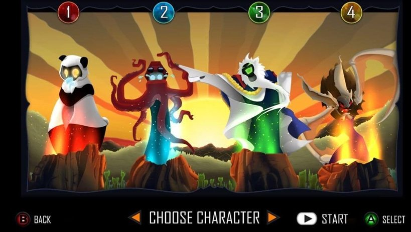 Four characters for four players - simple!