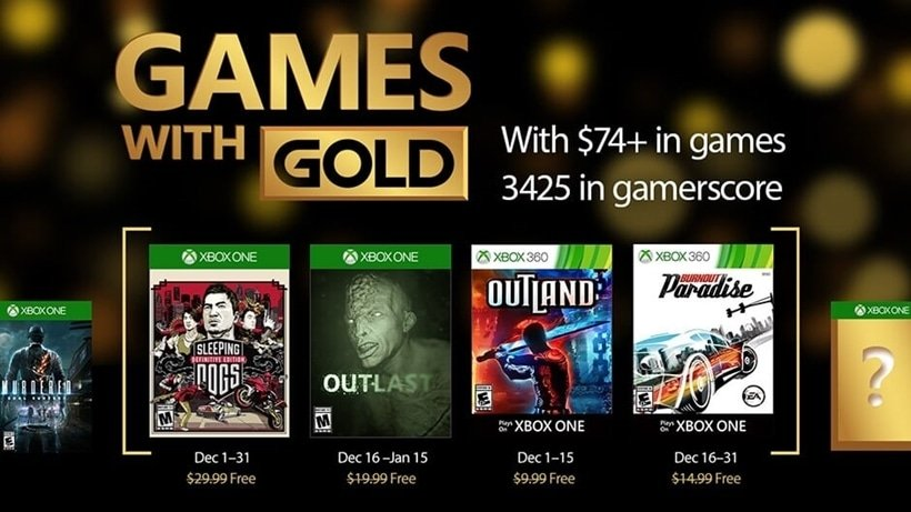 December 2016 Games With Gold