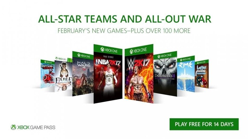 Xbox Game Pass February 2018