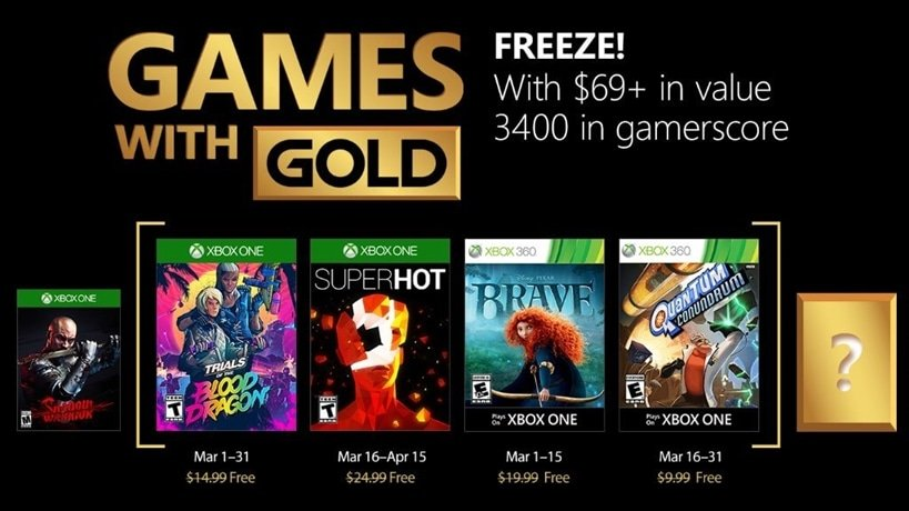 March 2018 Games with Gold