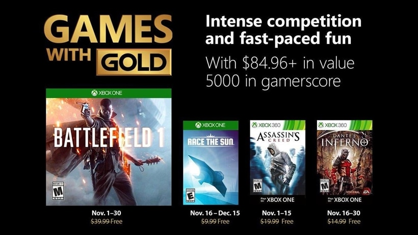 November Games With Gold